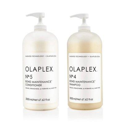 Olaplex Duo Pack No. 4 + No. 5 Shampoo and Conditioner, 2 x 2000ml