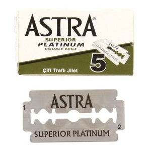 ASTRA Superior Platinum Double Edge Razor Blade, 1 X 5 Pieces