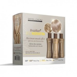 BRASIL CACAU ECO Keratin thermal reconstruction kit, 3 x 110 ml