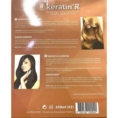 Jean Michel Cavada Box Keratin Shampoo + Keratin Mask 2 x 650ml