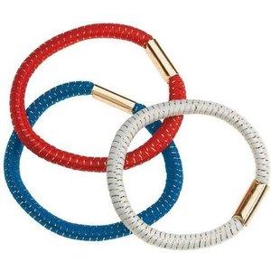 SIBEL Hair elastic, 3 Colors, 3 pieces Assorted Colors