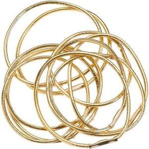 SIBEL Hair Elastics Gold, 10 pieces