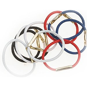 SIBEL Hair Bows - Colored - 10 Pieces - Diameter 25 mm