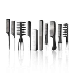 HBT 10 Piece Beard And Hair Comb Set - BLACK