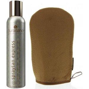 CURASANO Tanning Spray Set 150ml + Handschoen