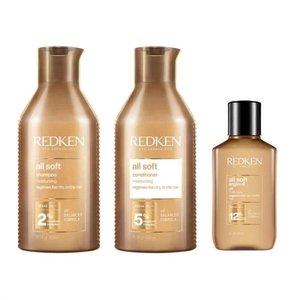 REDKEN All Soft Heavy Cream, 250ml - 3 Product Set