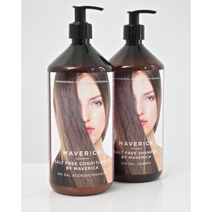 MAVERICK SET - 2 x 1000ml Keratin Salt Free Shampoo / Conditioner