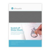 Silhouette Scratch-off  Sticker Sheets: Silver