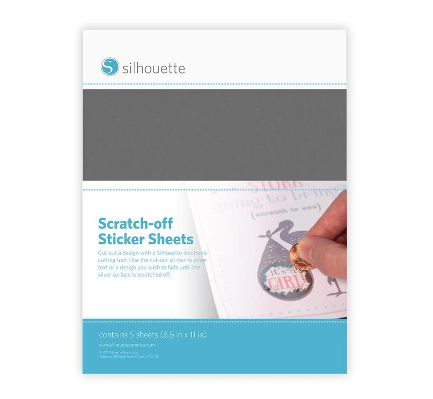 Scratch-off  Sticker Sheets: Silver