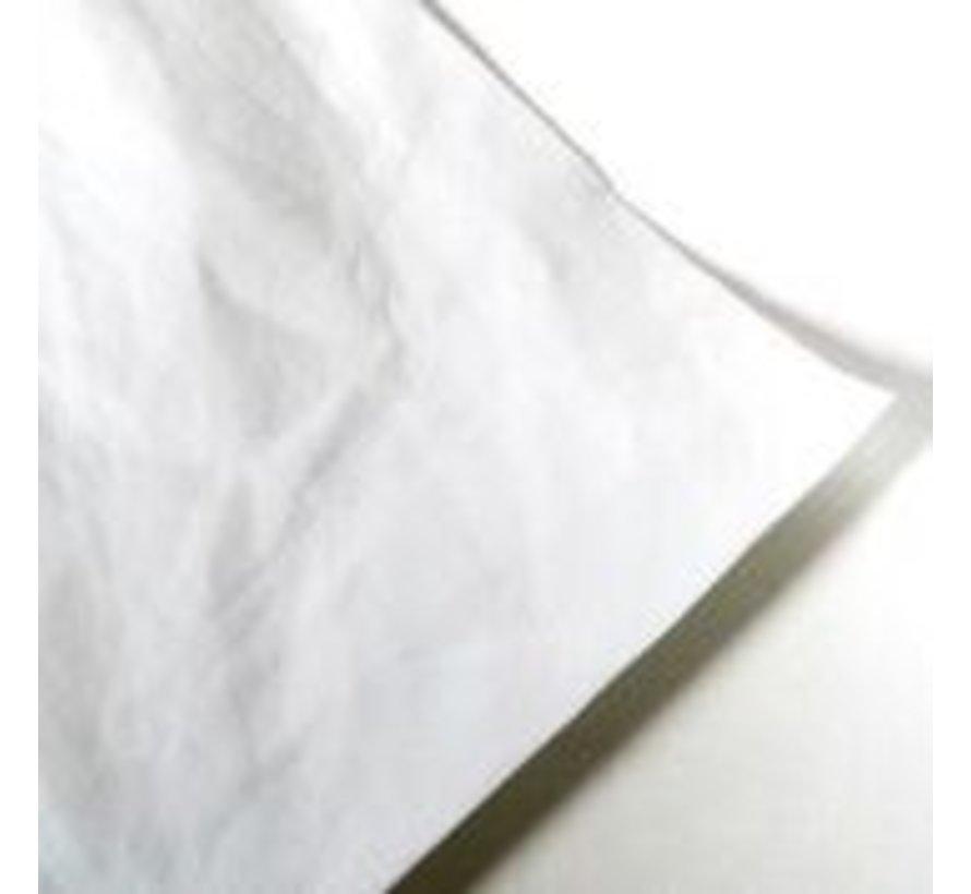 Papier met leder - look