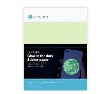 Silhouette Printable Glow-in-the-Dark Sticker Paper (2 sheets: 21.5cm x 27.9cm)