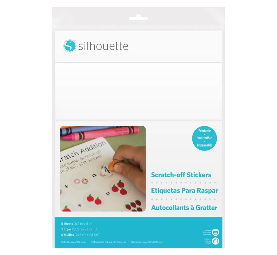 Scratch-off Sticker Sheets - Printable