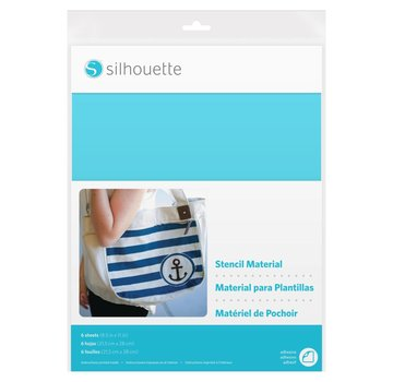 Silhouette Stencil Material Sheets Adhesive