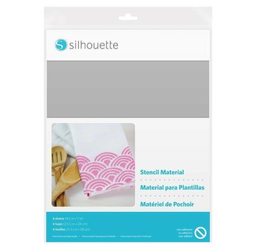 Silhouette Stencil Material Sheets Non-Adhesive