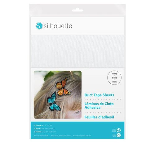 Silhouette Duct Tape Sheets : White