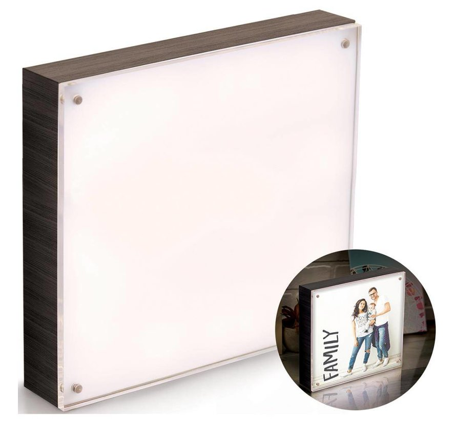 Photolight kader Ebony vierkant (20 x 20 cm)