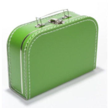 Koffer - 25 cm - Groen
