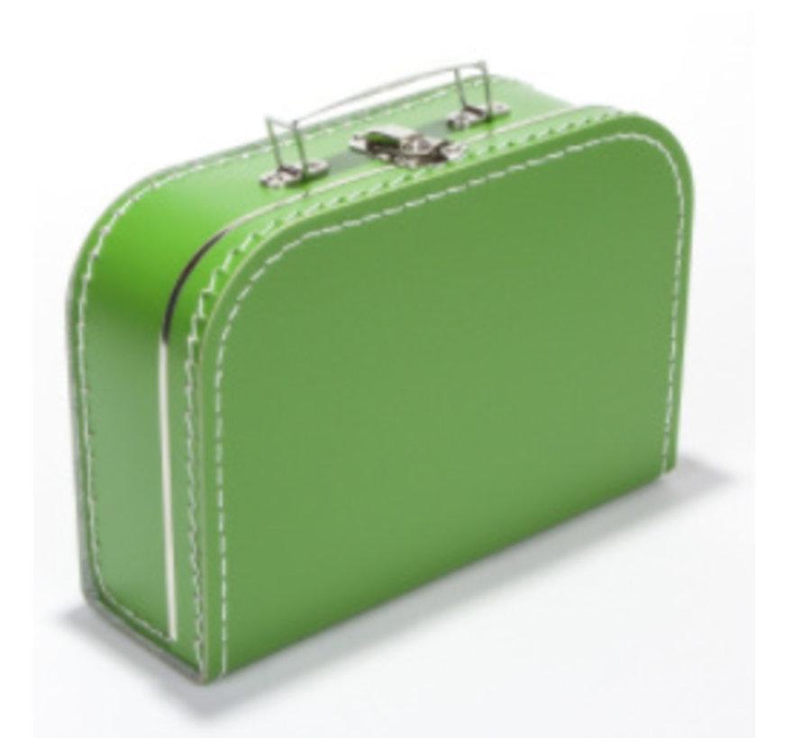 Koffer - midi effen - Groen