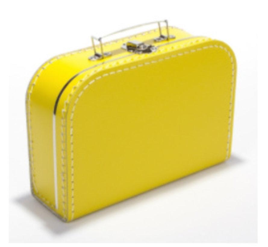 Koffer - 25 cm - Geel