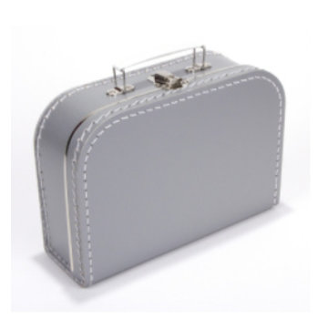 Koffer - 25 cm - Zilver