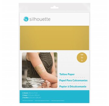 Silhouette Temporary Tattoo Paper: Gold
