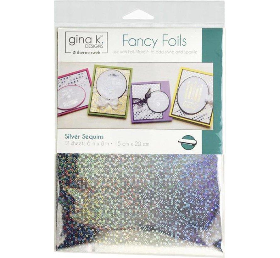 Gina K. Foils: Silver Sequins