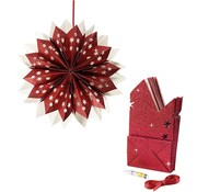 Ster van papieren zakken - rood