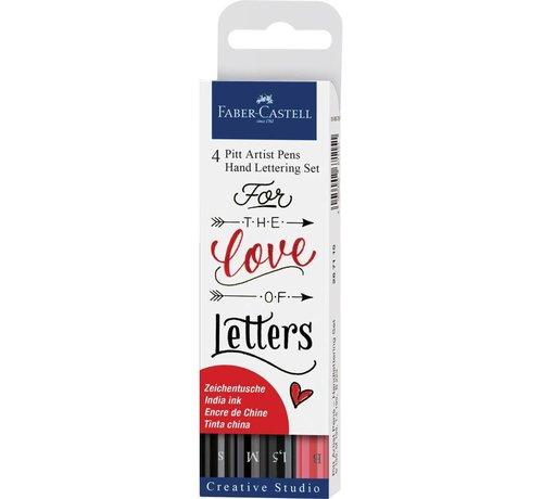 faber castell Pitt artist pens - handlettering kit zwart-rood