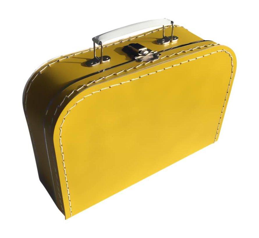 Koffer - midi effen - Oker