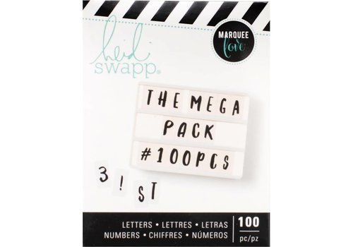Heidi Swapp Mega Pack Cijfers en Letters - Handlettered