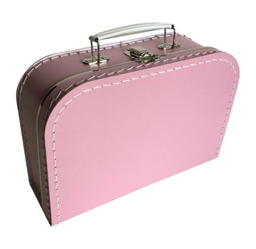 Koffer - 25 cm - Fel Roze