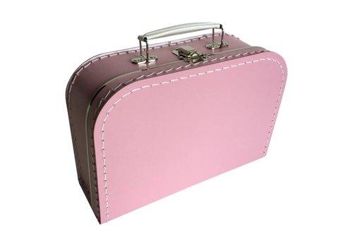 Koffer - midi effen - Fel Roze