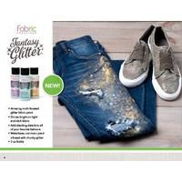 Textielverf met glitters