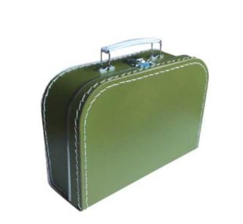 Koffer - midi effen - Olijfgroen