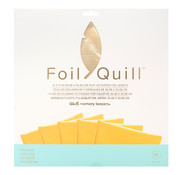 We R Memorykeepers Foil Quill Sheets 12 x 12 - GOLD FINCH