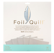 We R Memorykeepers Foil Quill Sheets 12 x 12 - SILVER SWAN