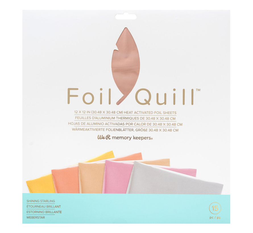 Foil Quill Sheets 12 x 12 - SHINING STARLING