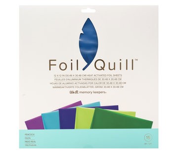 We R Memorykeepers Foil Quill Sheets 12 x 12 - PEACOCK
