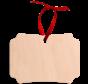 Natural Wood Decoration tag - Berlin shape