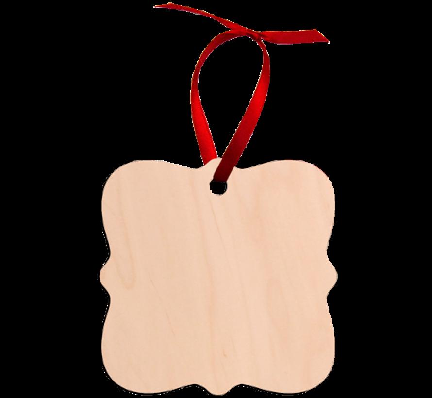 Natural Wood Decoration tag - Prague shape