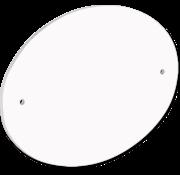 Deurbordje - Ovaal met voorgeboorde gaten