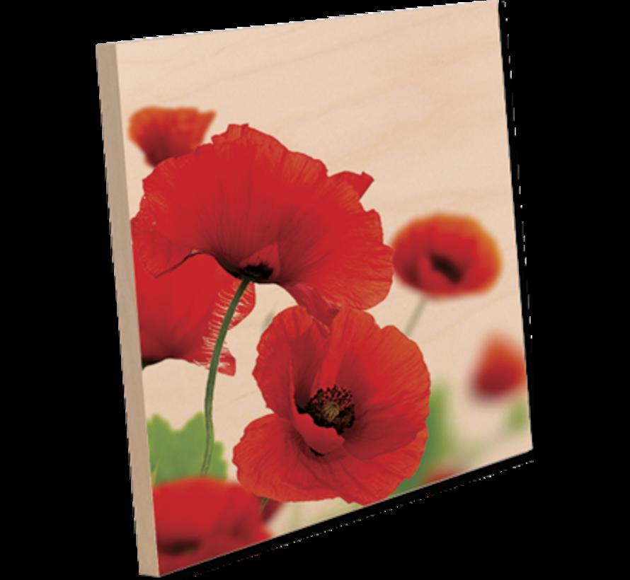 Houten fotopaneel met staander (150 x 150)