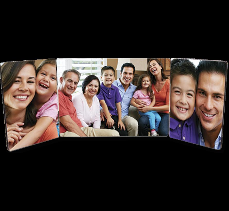 Fotopaneel met scharnier (3 panelen)