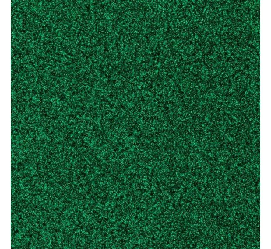 """Glittervinyl -  12"""" x 12""""  -  Groen"""