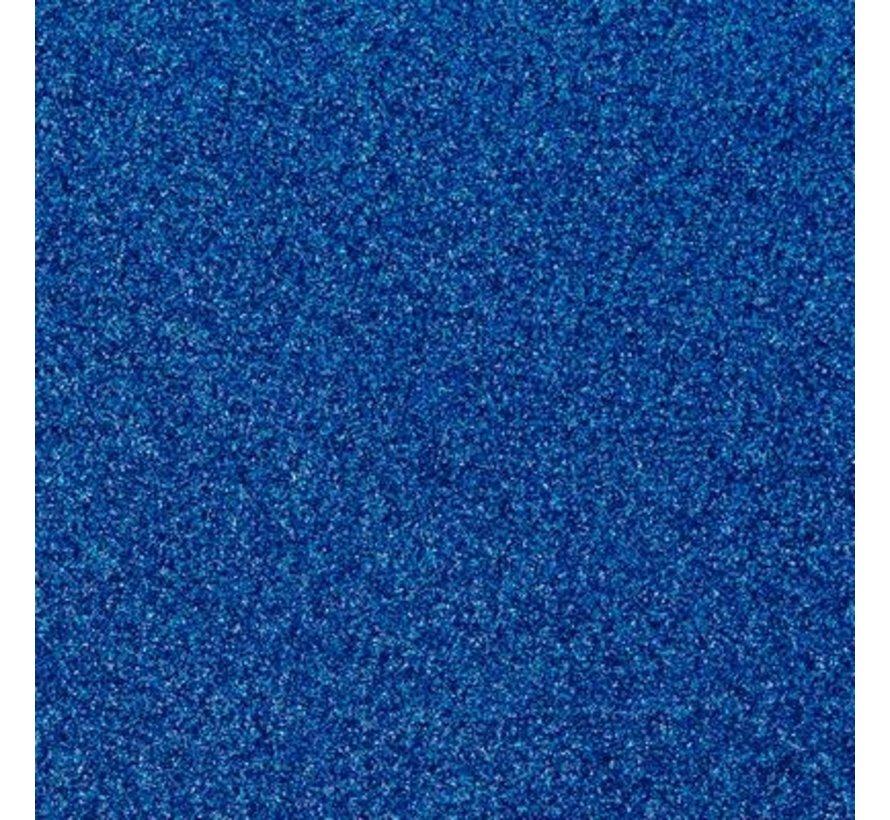 """Glittervinyl -  12"""" x 12""""  -  Blauw"""