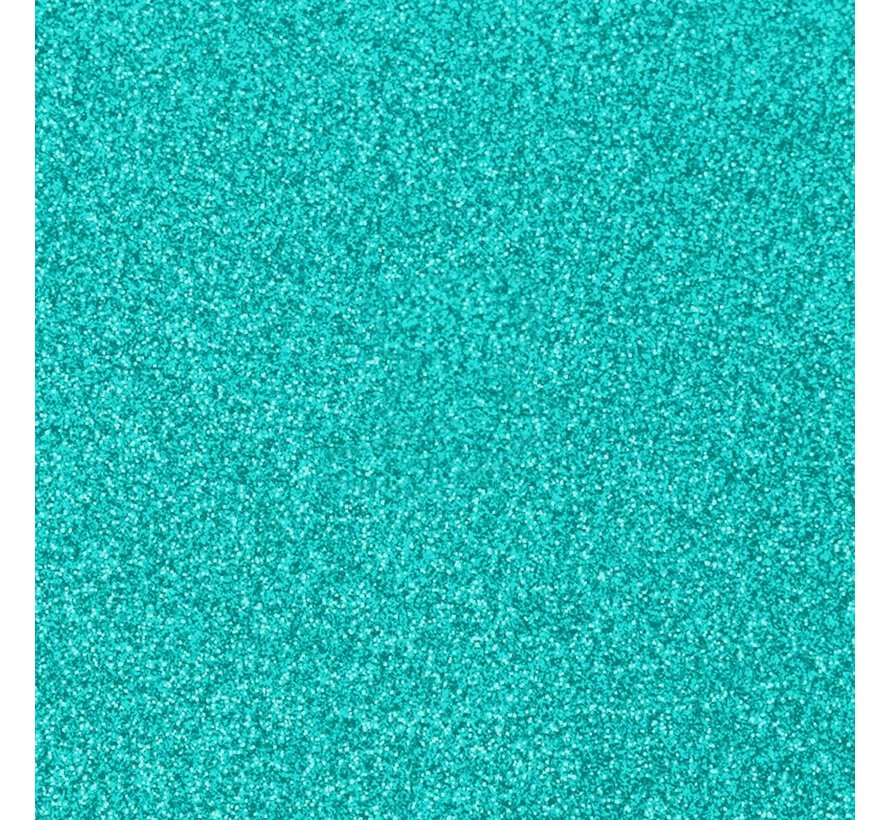 "Glittervinyl -  12"" x 12""  -  Tiffanyblauw"