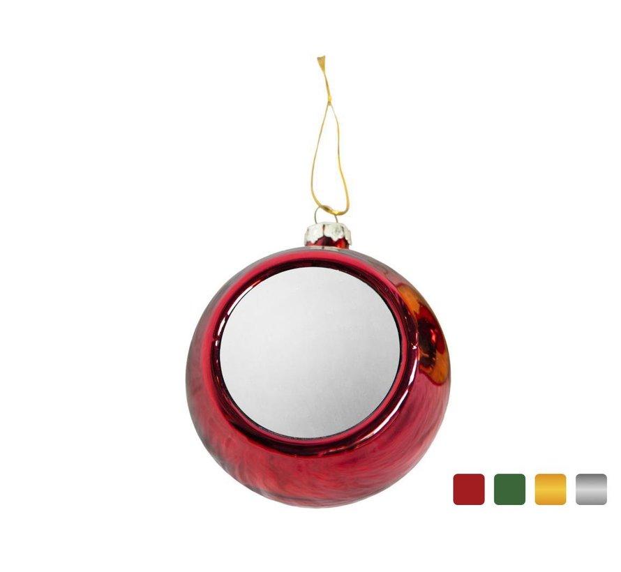 Kerstbal met schild (sublimatie)