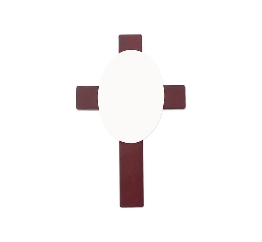 Houten Kruis met ovalen Inzet