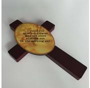 Unisub Houten Kruis met ovalen Inzet