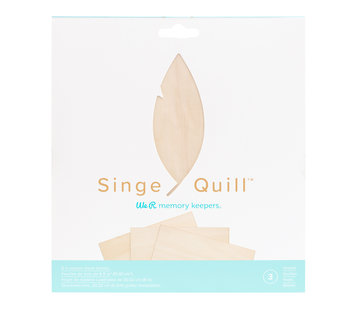 We R Memorykeepers Singe Quill  Wood Sheets (3pk)